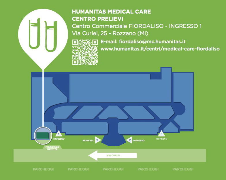 Mappa Humanitas Medical Care Fiordaliso